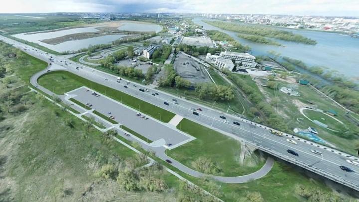 Из Парка Победы в Омске вырезали 3 гектара для строительства развязки