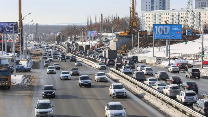 На новую дорожную разметку в Уфе потратят 21 миллион рублей