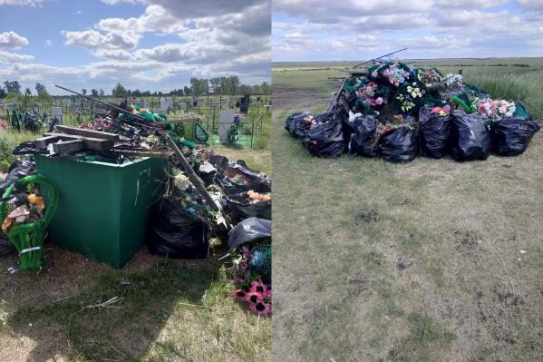 Территорию убрали, а вывезти мусор не смогли