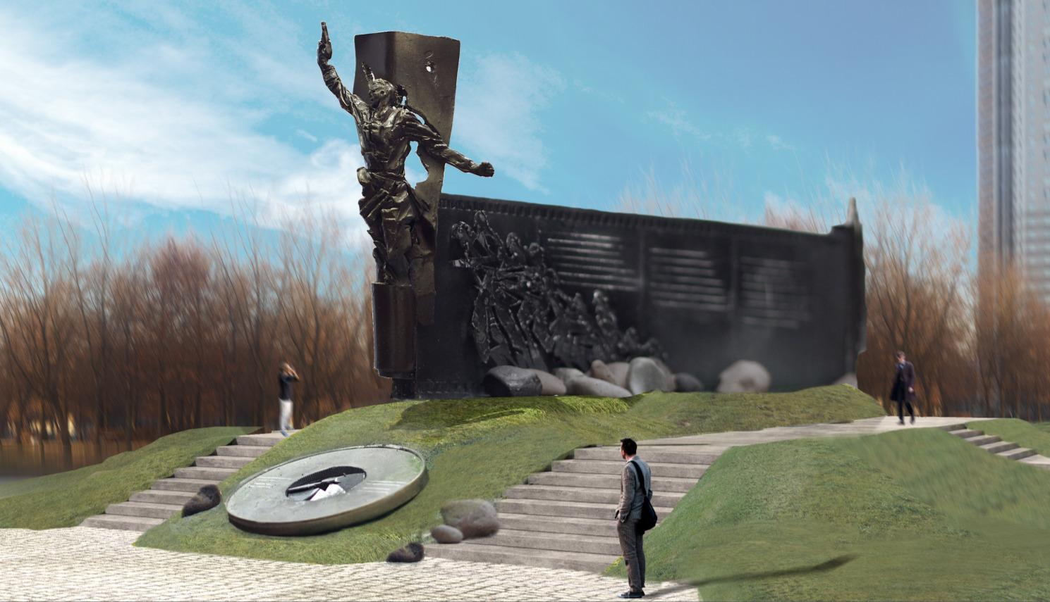 Проект памятника Героям России
