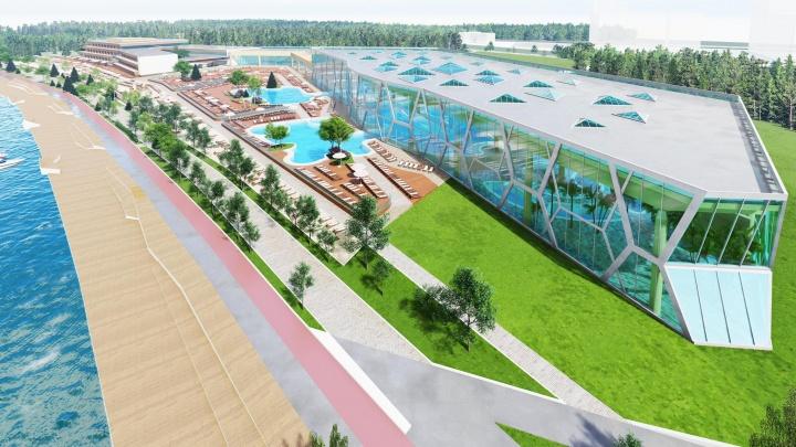 На берегу Шарташа разрешили построить термальный комплекс «Баден-Баден». Показываем, как выглядит проект