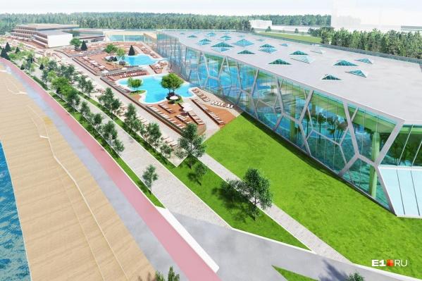 Так будет выглядеть новый комплекс на месте бывшего клуба