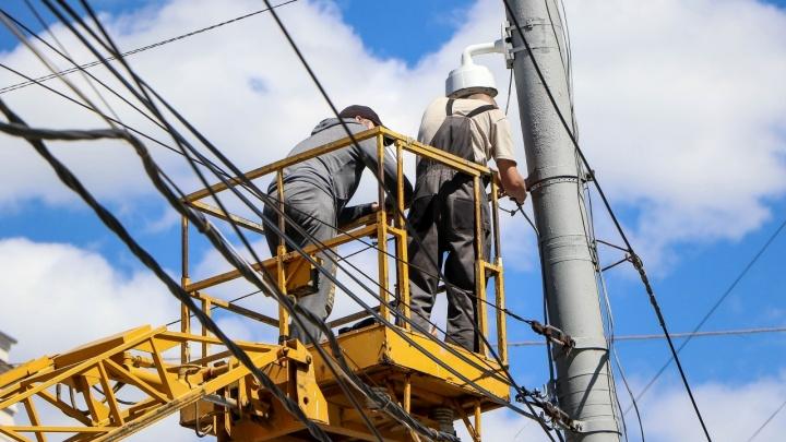 Советский район остался без уличного освещения из-за ремонтных работ