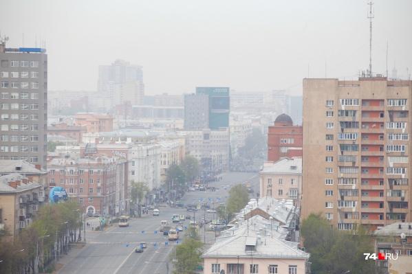 Парад в Челябинске прошел в сизой дымке
