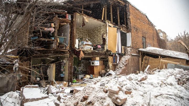 Руины старой Самары: обрушение дома на Галактионовской в 15 фото
