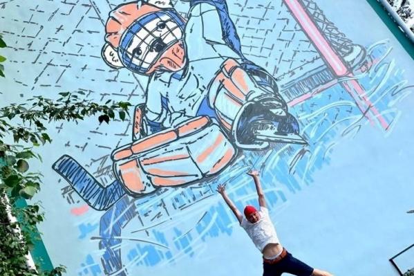 Граффити нанесли на фасады двух домов на улице Белостоцкого (Тракторозаводский район)