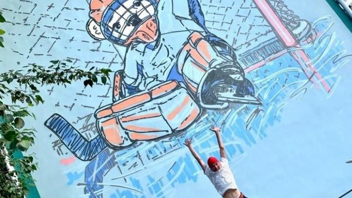 Медвежата-хоккеисты украсили фасады жилых домов в Челябинске