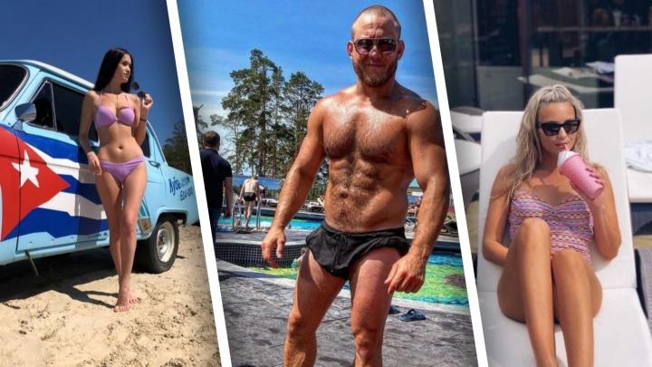 Мускулистые мужчины и стройные девушки в купальниках. Горячие фото тюменцев на местных пляжах