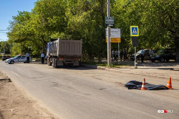 Место происшествия оцепили инспекторы ГИБДД