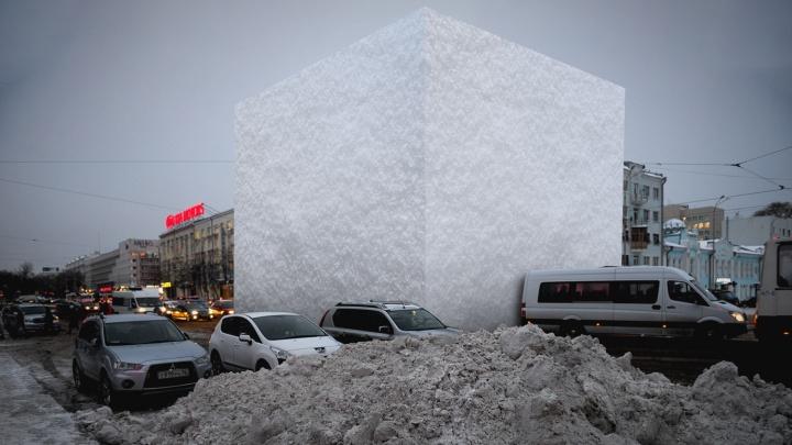 Сколько снега выпало в Екатеринбурге и сколько успели убрать? Показываем в одной картинке
