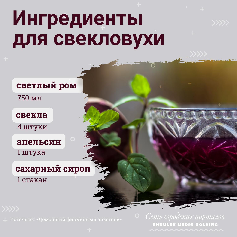 Чтобы приготовить свекловуху, вам понадобится светлый ром, апельсин, сахарный сироп и собственно свекла