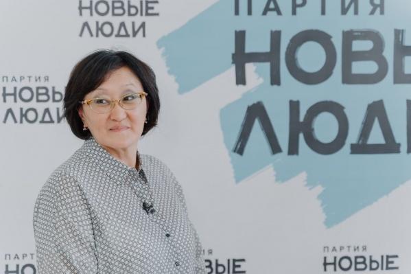Сардана Авксентьева, бывший мэр Якутска, а ныне кандидат в депутаты Государственной думы от партии «Новые люди»