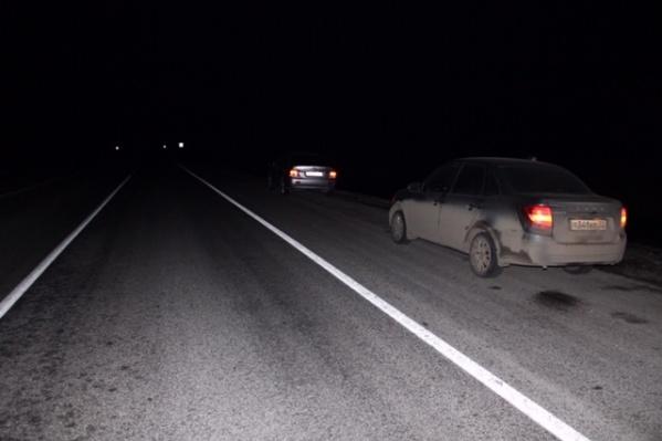 Авария произошла на трассе в темное время суток