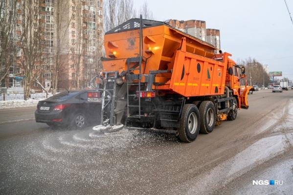 В Новосибирске будут использовать разные реагенты для дорог
