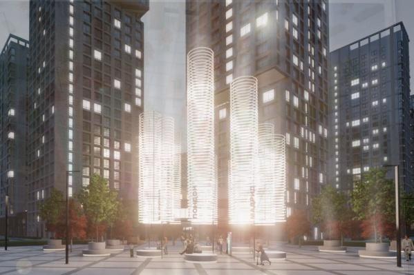 Арт-объект появится напротив ЖК «Парк столиц»
