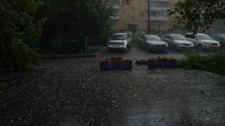 МЧС выпустило экстренное предупреждение из-за гроз и града в Новосибирской области