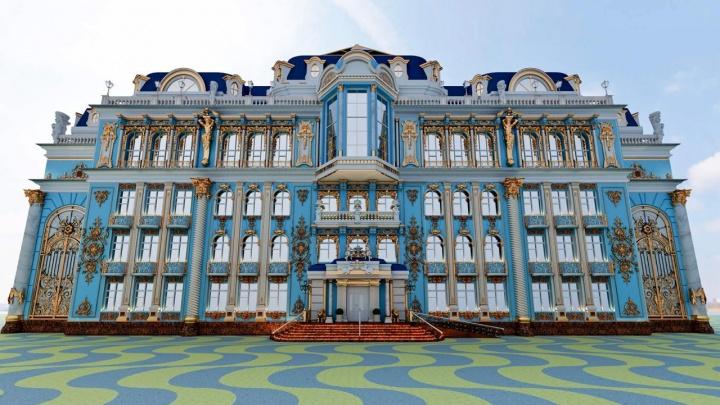 Еще больше золота. Андрей Симановский отремонтирует фасад школы-дворца на Вторчермете
