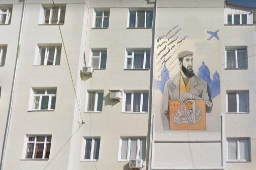 Один из эскизов, который в фотошопе поместили на фасад здания, где жил Довлатов. Он больше всего приглянулся жюри