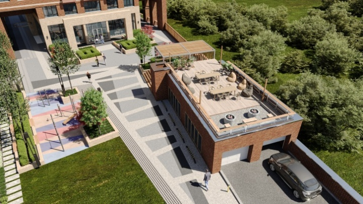 Между «Студенческой» и «Спортивной» построят дом с необычным подъездом и смотровой площадкой на крыше