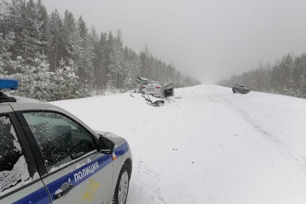 Авария произошла на <nobr>116-м</nobr> километре дороги Ивдель — ХМАО