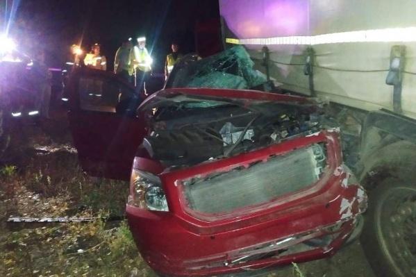 Авария произошла около двух часов ночи