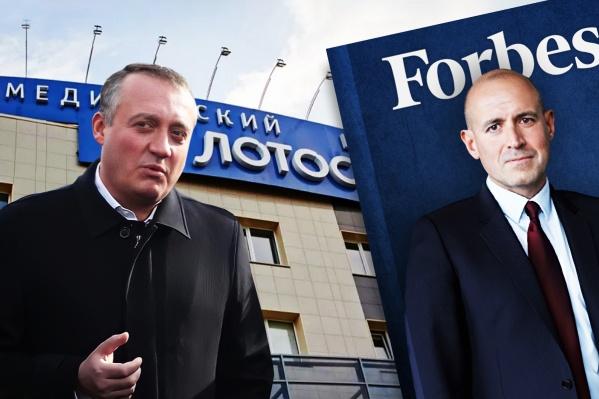 Челябинский бизнесмен Сергей Вайнштейн (слева) продал половину медицинского бизнеса владельцу компании — производителя вакцины «Спутник V» Виктору Харитонину