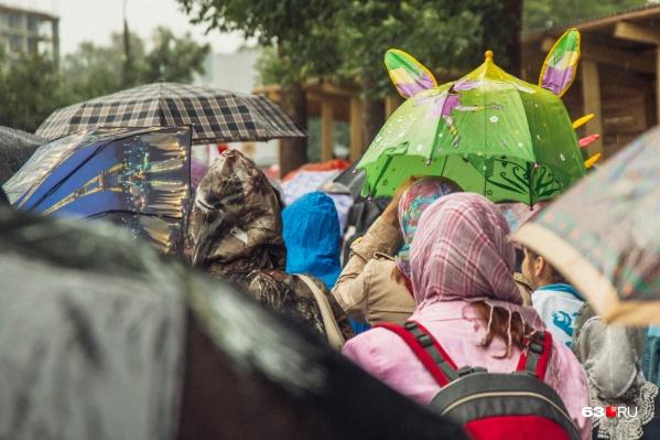 Зонтики лучше далеко не убирать