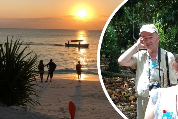 70-летний Сергей Розанов пропал во время экскурсии на необитаемый остров рядом с Занзибаром