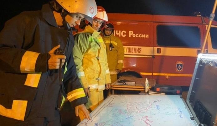 В Волгоградской области одну из жительниц хутора, объятого лесным пожаром, увезли в районную ЦРБ