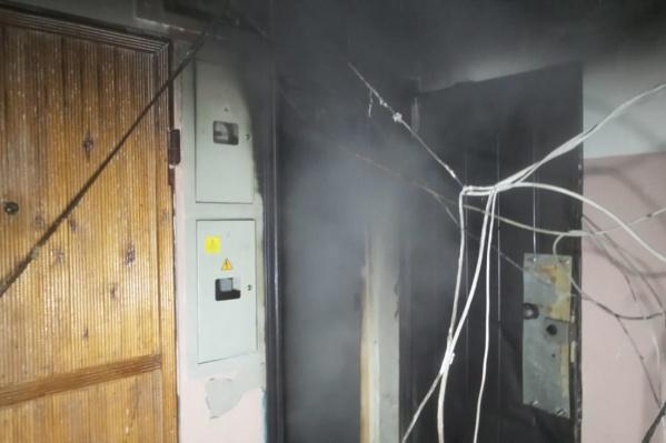 Квартира сгорела полностью