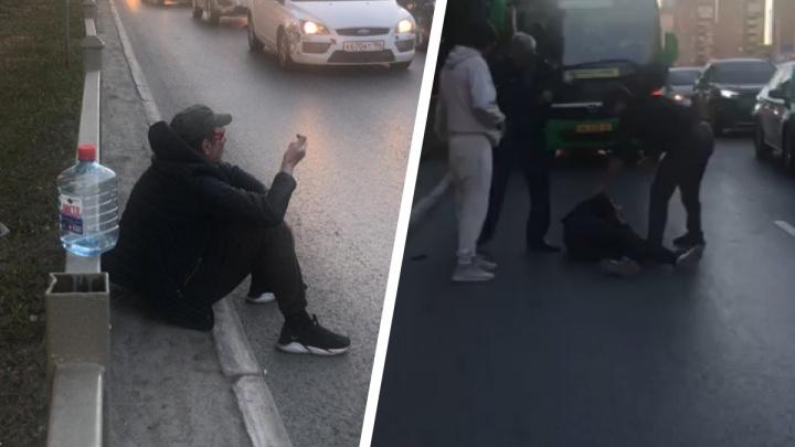 «Меня преследует ОПГ, меня хотят убить!»: на проспекте Космонавтов буйный мужчина кидался на машины