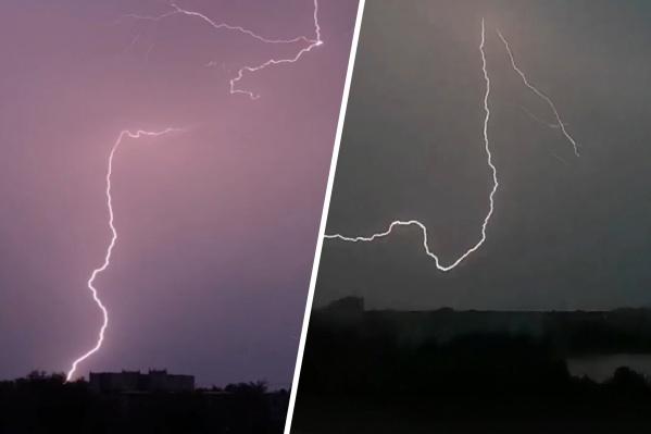 Вот такие природные спецэффекты увидели северяне прошлым вечером