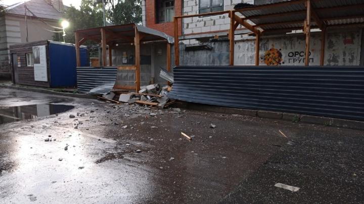 В Перми обрушилась часть стены строящегося дома