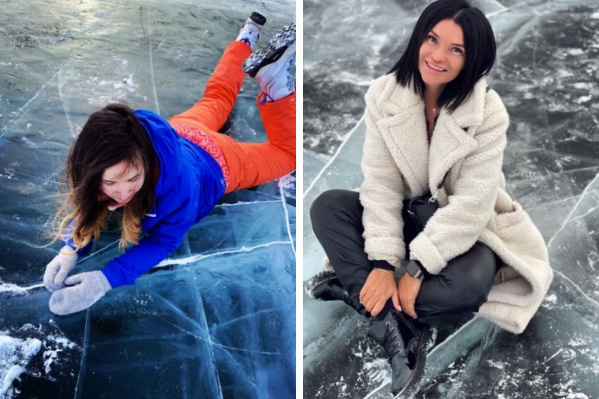 В зависимости от погоды цвет льда на фото получается разным