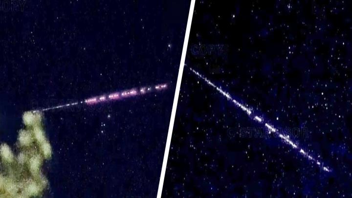 Свердловчане заметили в небе странные цепочки огней, похожие на «космические поезда». При чем тут Илон Маск?
