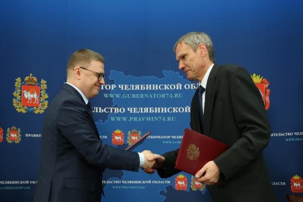 Алексей Текслер и Леонид Вахрамеев обсудили образовательные программы и инициативы
