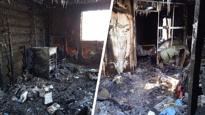 «Мама сильно кричала, я слышала хлопки»: в пожаре под Тюменью пострадала женщина