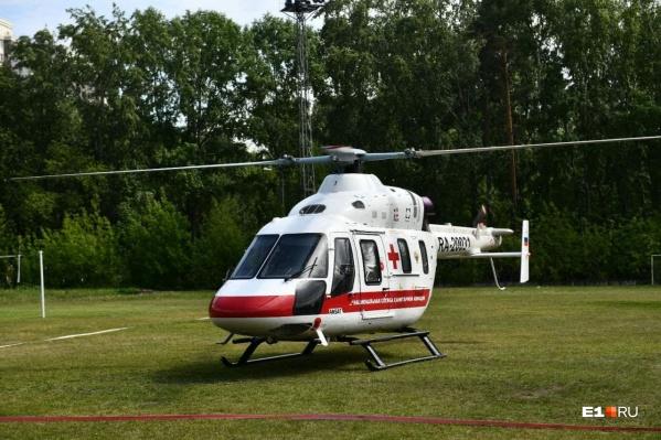 Туриста эвакуировали вертолетом в Краснотурьинск
