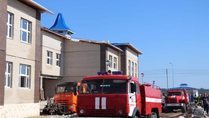В Кореновске продолжает гореть детсад. За пару часов до происшествия его посетила вице-губернатор