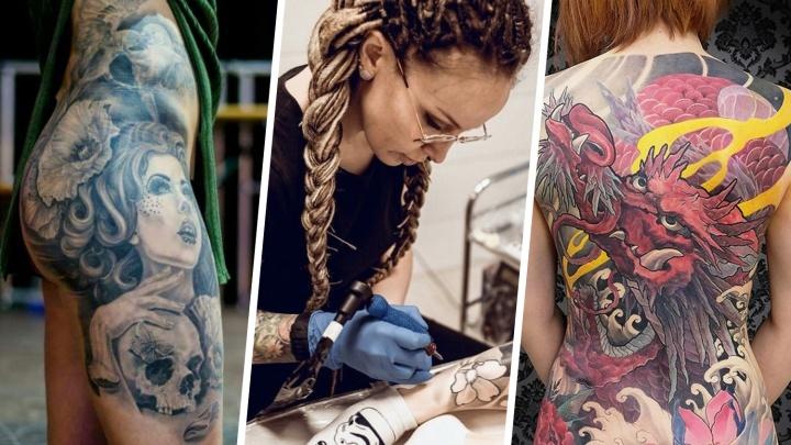 «Ты как в старости будешь в баню ходить?»: истории трех омичек с татуировками по всему телу