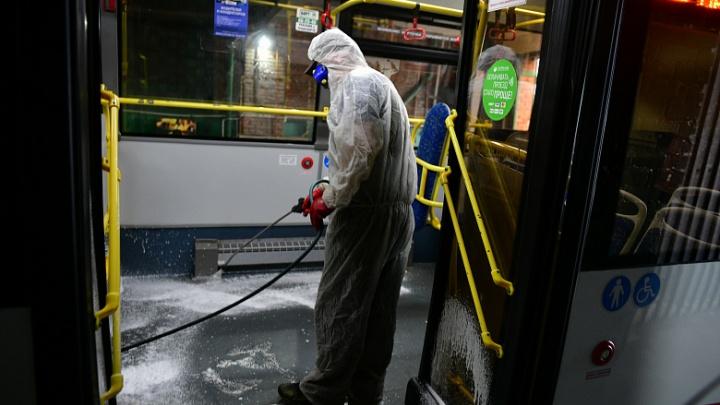 В Ярославле начали мыть и обрабатывать общественный транспорт