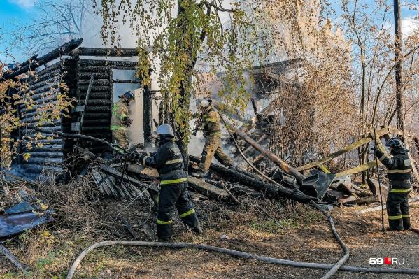 В загоревшемся доме не было жильцов