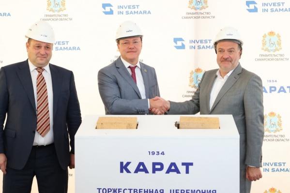 Старт новому производству дал губернатор Дмитрий Азаров