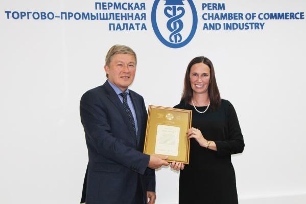 В завершение встречи представители банка получили диплом за победу в конкурсе «Лучшая банковская программа для МСП — 2021»