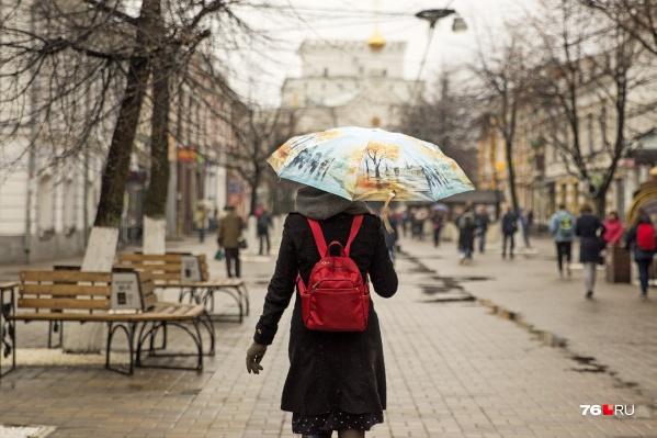 В середине недели в Центральной России ожидаются сильные дожди