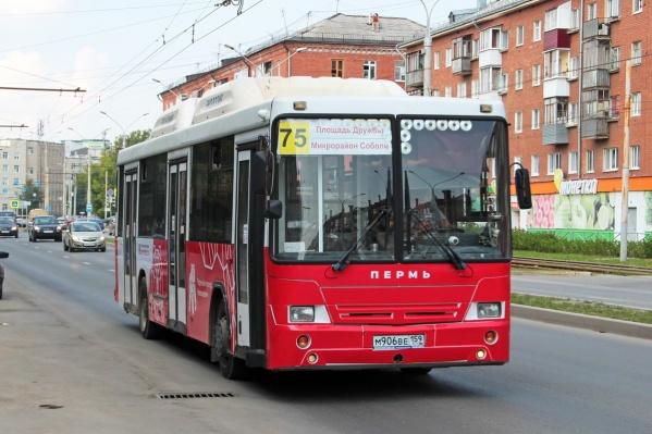 Автобусный маршрут № 75 временно перенаправят до микрорайона Липовая Гора
