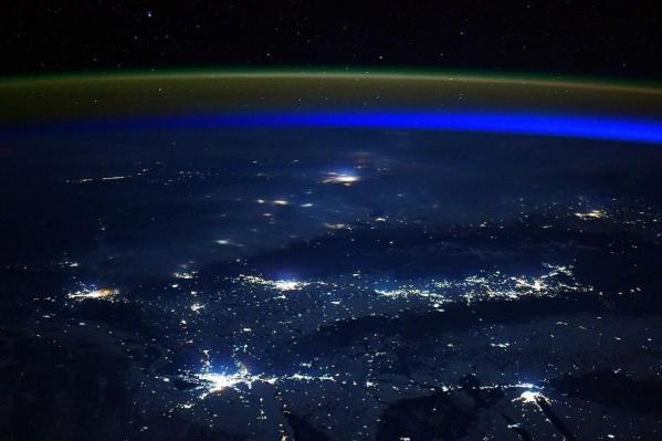 Так Сибирь выглядит из космоса