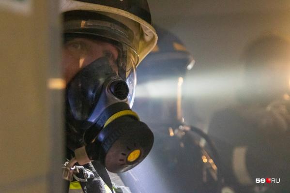 Многих людей спасли из огня пожарные