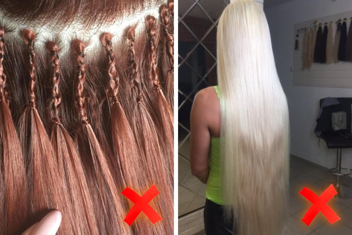 Такое наращивание может испортить ваши волосы, образ будет смотреться дешево