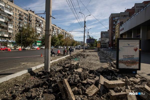 В последнее время отдельные улицы города выглядят как после бомбежки